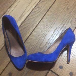 Aldo blue suede heels